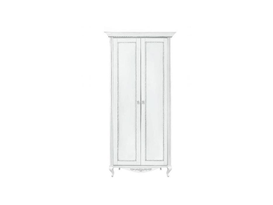 БМ: Неаполь: шкаф 2-х дверный  (белый, серебро)