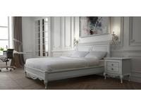 БМ: Неаполь: кровать 160х200 без изножья  (белый, серебро)