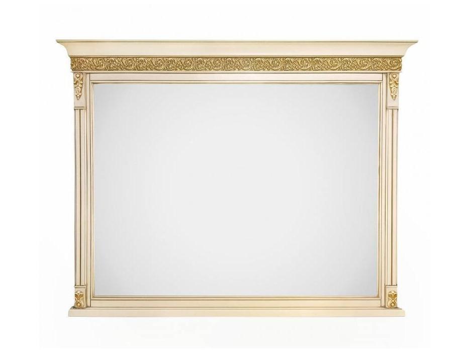 Liberty: Неаполь: зеркало настенное  (ваниль, золото)