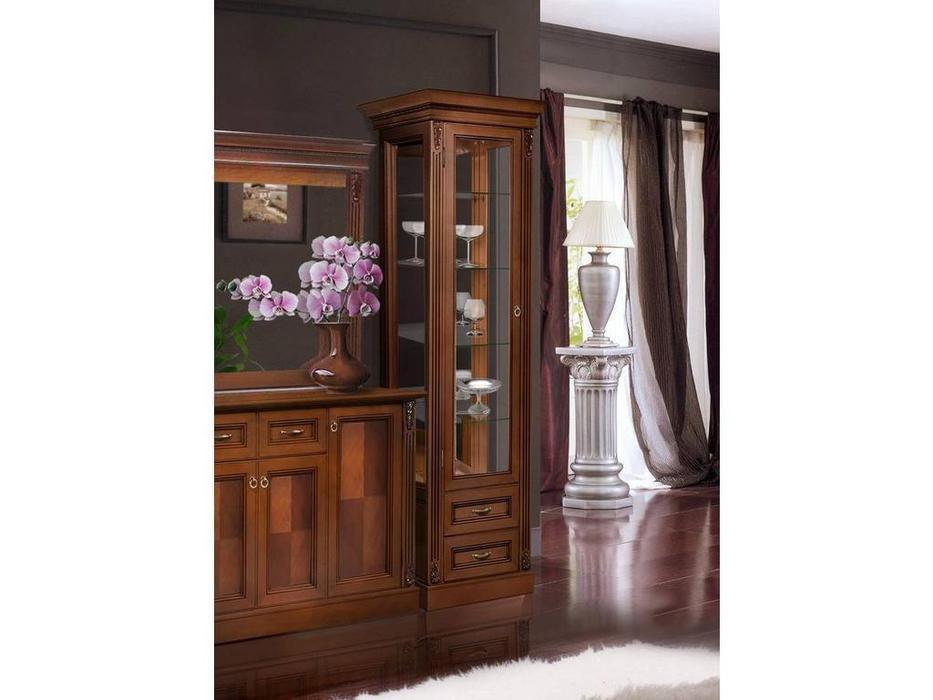 БМ: Палермо: витрина 1 дверная  левая (вишня)
