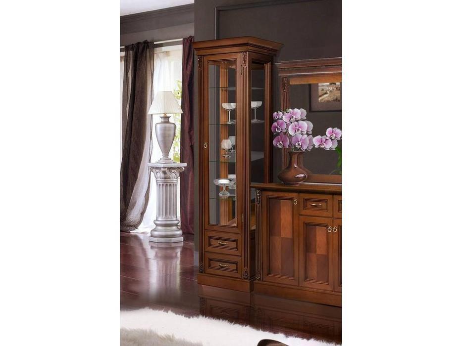 БМ: Палермо: витрина 1 дверная  правая (орех)