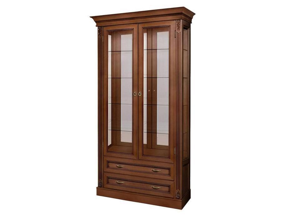 БМ: Палермо: витрина 2 дверная  (вишня)