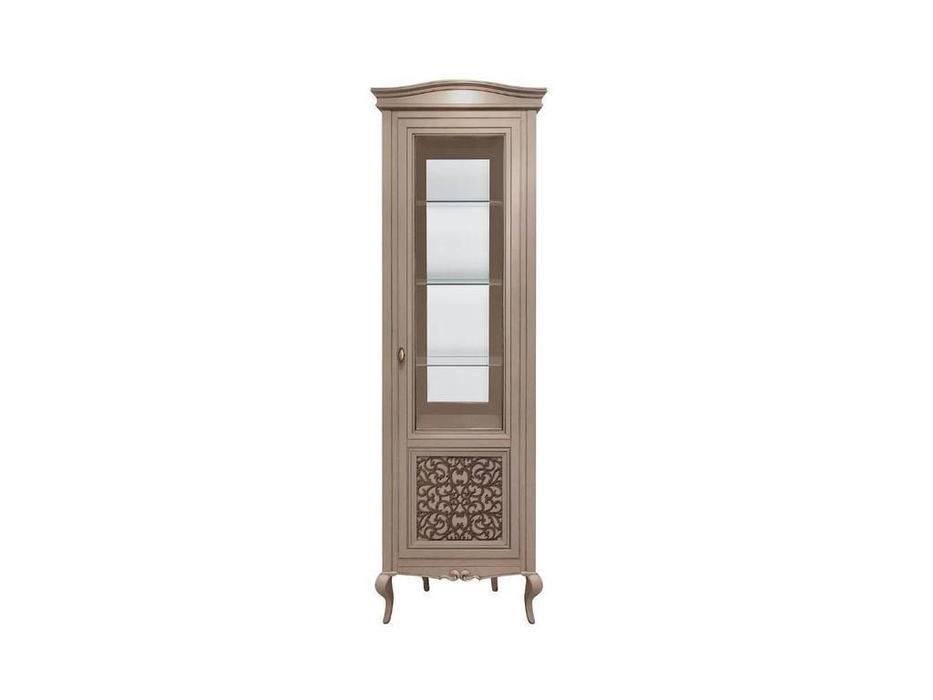 БМ: Портофино: витрина 1 дверная  правая с декором (кварц)