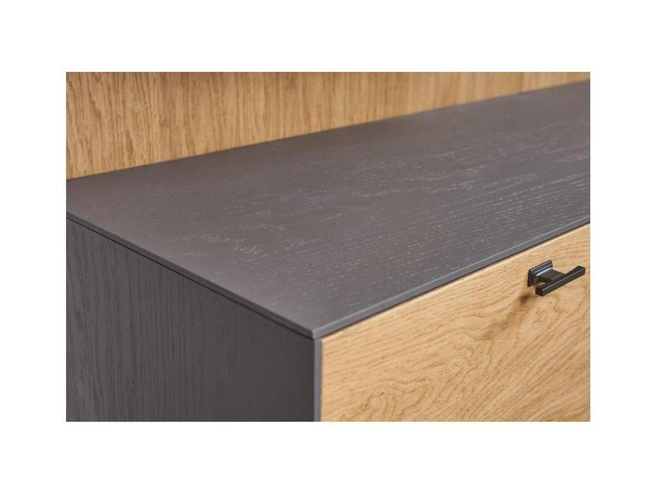 БМ: Модена: стенка в гостиную №1 (серый)
