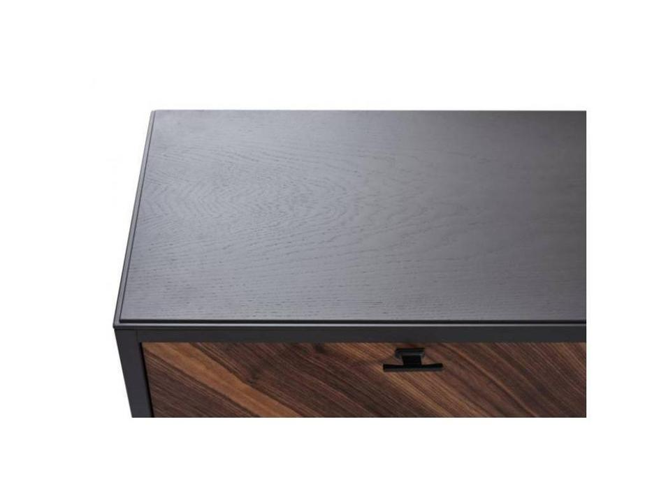 БМ: Альба: тумба под телевизор  с ящиками (орех, мокко)