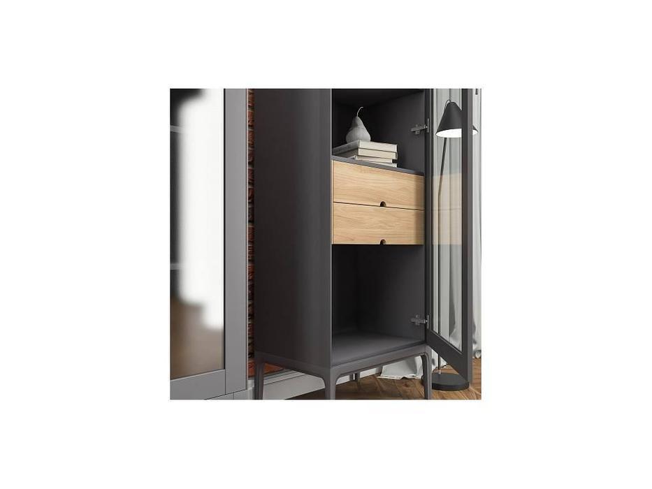 БМ: Верона: витрина 1 дверная  левая с ящиками (мокко)