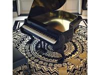 Fertini: Il gattopardo: модель цифрового фортепиано (черный лак, золотая фольга)