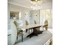 Fertini: Lotus: стол обеденный  Tree Roots (шпон, мрамор)