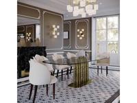 Fertini: Lotus: стол обеденый  Bamboo (золото, стекло)