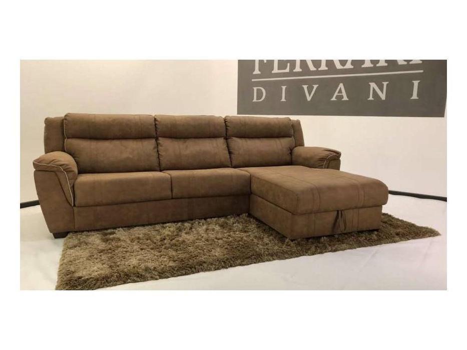 F. Divani: Алабама: диван угловой раскладной (коричневый)