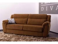 F. Divani: Алабама: диван 3-х местный Maxi раскладной (коричневый)