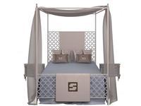 Fertini: Baby: кровать  (белый лак, голубой)