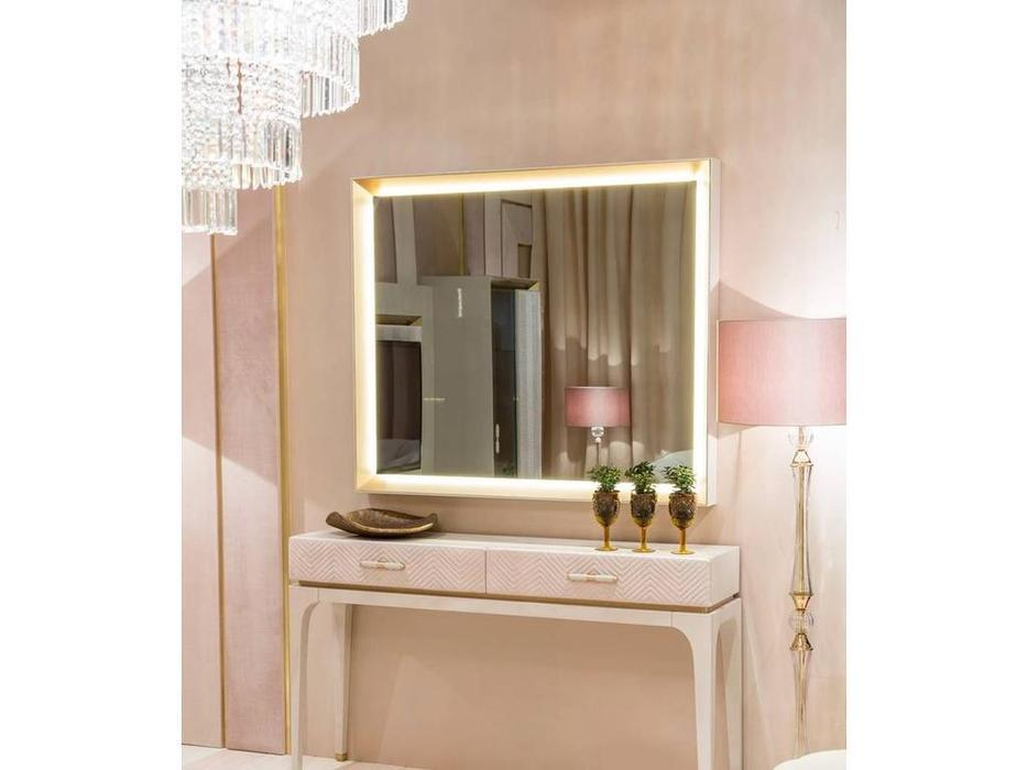 Aleal: Prestige: зеркало навесное  для консоли (латунь)