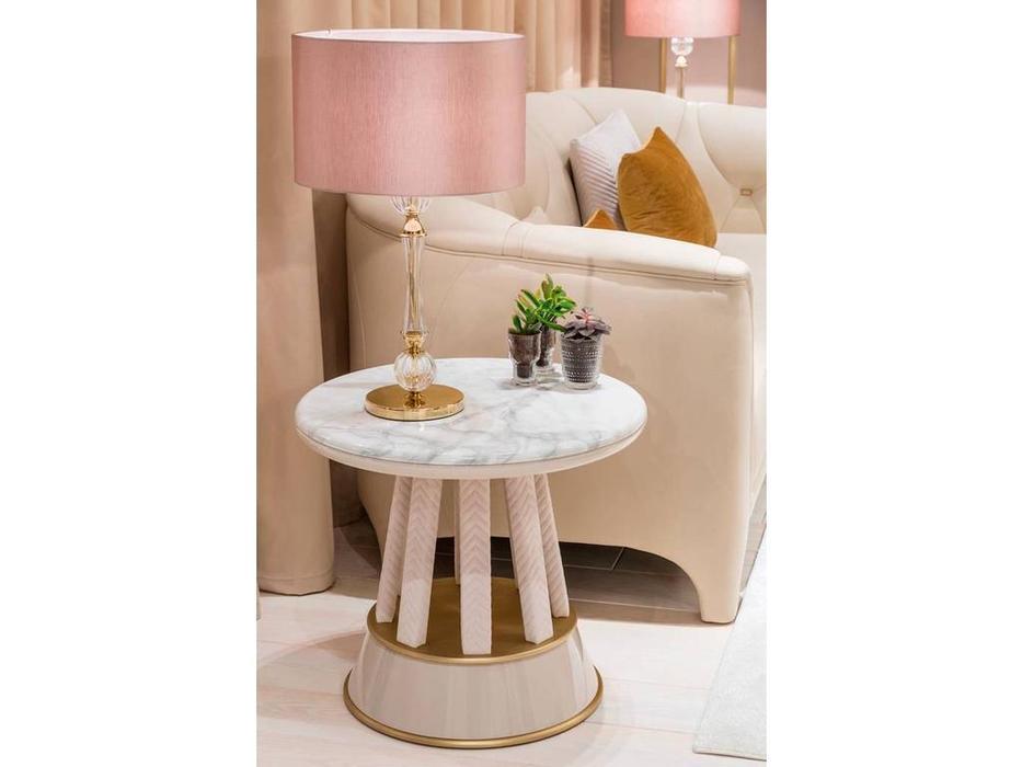 Aleal: Prestige: стол журнальный  (мрамор, ткань)
