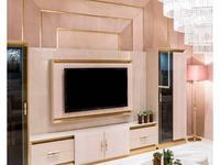 Aleal: Prestige: панель ТВ  (бежевый лак, ткань)