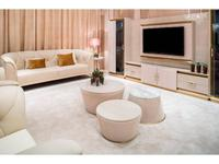 Aleal: Prestige: гостиная (бежевый лак, мрамор, ткань)