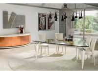 Aleal: Avantgarde: стол обеденный  (лак, стекло)