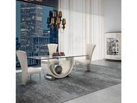 Aleal: Glamour: стол обеденный  (лак, стекло)