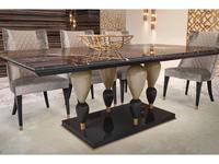 Aleal: Imperador Plus: стол обеденный (мрамор, золото)