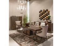 Aleal: Topaze: стол обеденный  раскладной (эвкалипт серый)