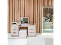 Aleal: Prestige: стол туалетный  (бежевый лак, ткань)