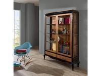 Mocape: Style: витрина 2-х дверная  (дерево, черный лак)