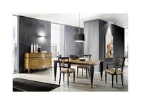 Mocape: Style: стол обеденный  (дерево, черный лак)