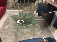 Alma de Luce: Kanzashi: стол журнальный (латунь, стекло)