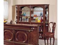 Mirandola: Arena: витрина  барная с зеркалом (орех радика)