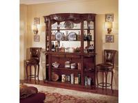 Mirandola: Arena: витрина  барная с зеркалом (орех радика, старение)