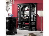 Mirandola: Arena: витрина  барная с зеркалом (черный)
