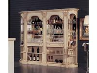 Mirandola: Arena: витрина  барная с зеркалом (слоновая кость, роспись)
