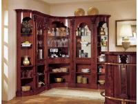 Mirandola: Arena: витрина угловая  барная с зеркалом (орех радика)