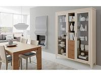 Le Fablier: Melograno: витрина 2-х дверная  с ящиками Camomilla (ivory, noce canaletto)