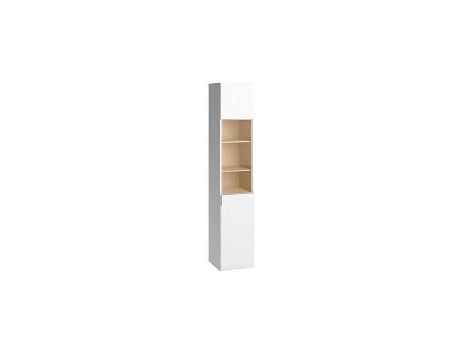 Vox: 4YOU: витрина 1-дв.  (белый, дуб)