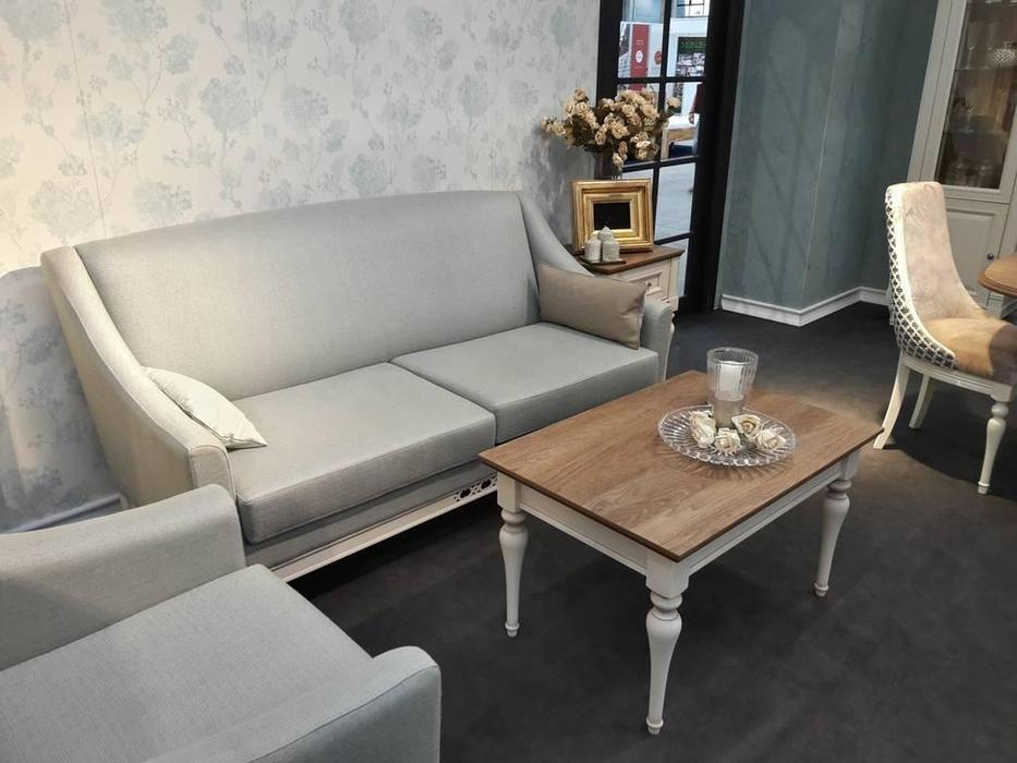 Taranko: Florencja: диван 3 местный  (ваниль, ткань)