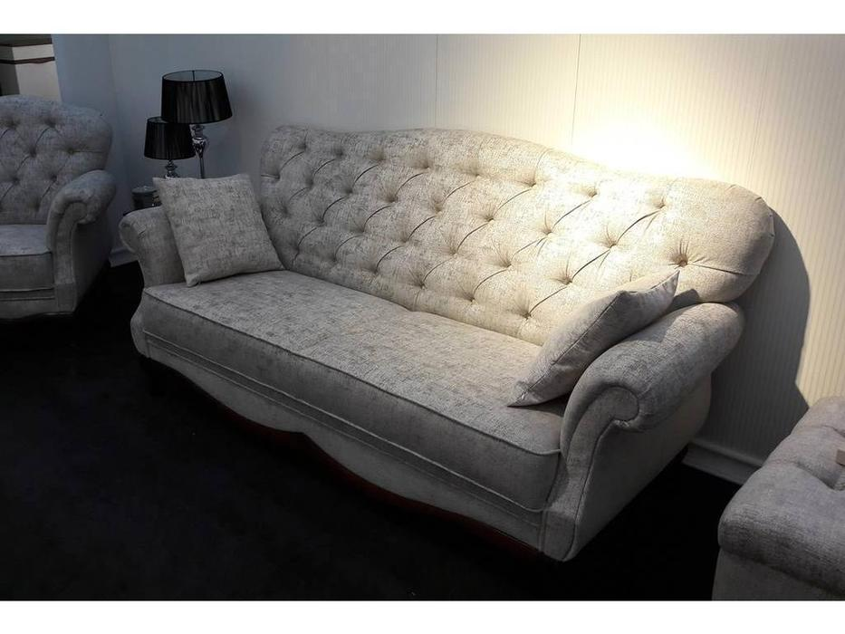 Taranko: Milano: диван 3 местный  раскладной (орех, ткань)