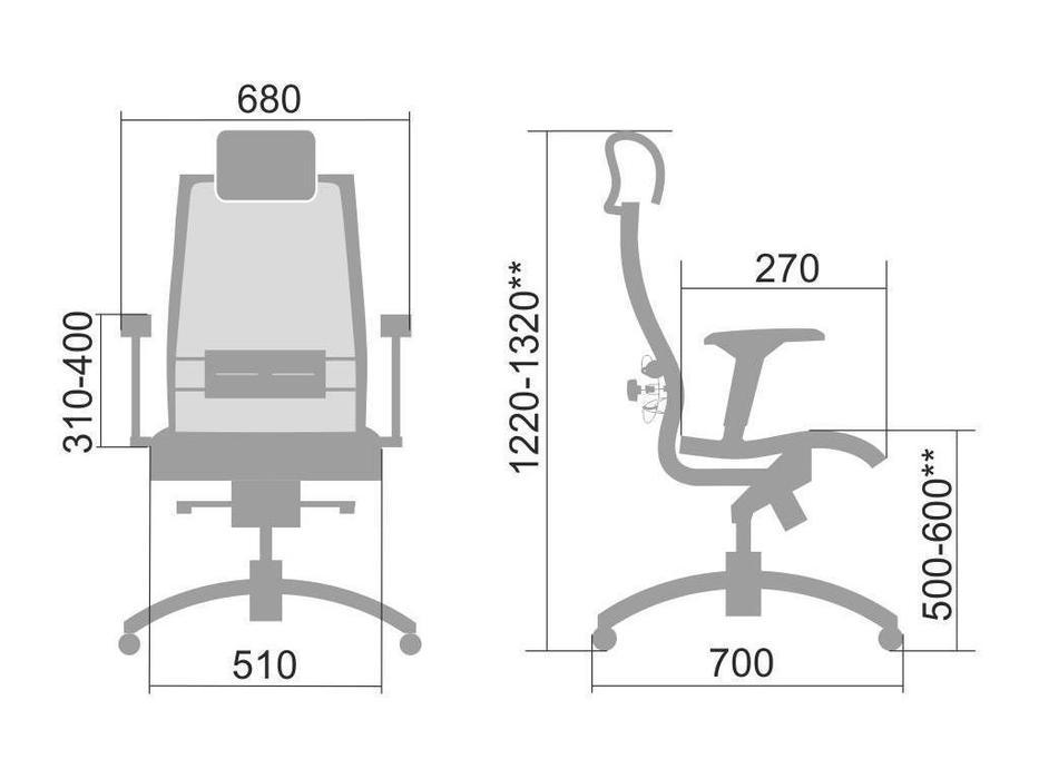 Consul: Samurai: кресло офисное Black Edition (черный)