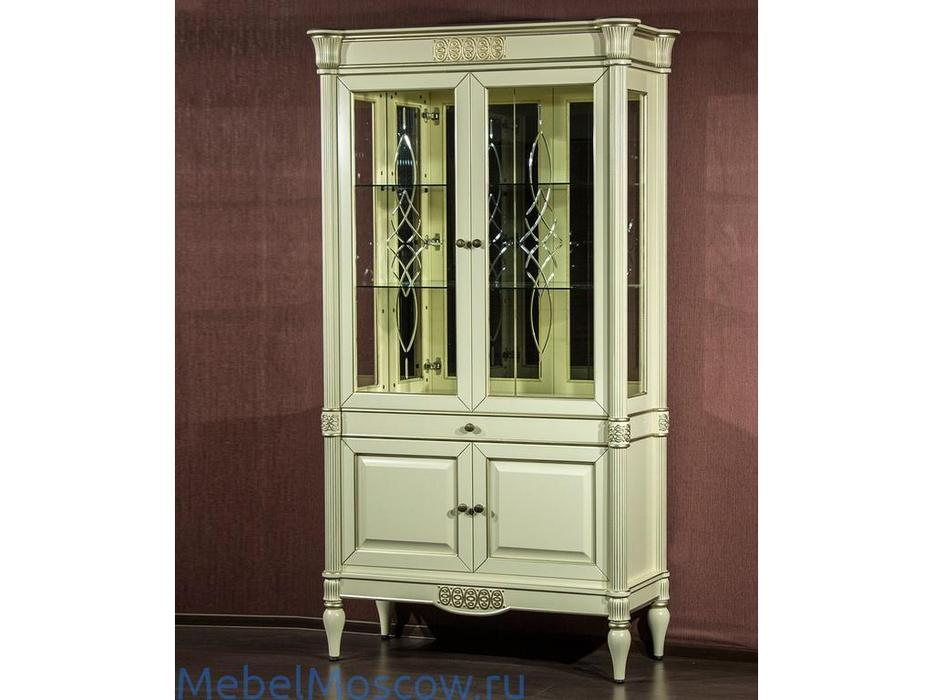 Юта: Грация: витрина 2 дверная  (шампань)