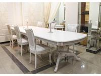 Юта: Альт: стол обеденный  раскладной (белый, патина)