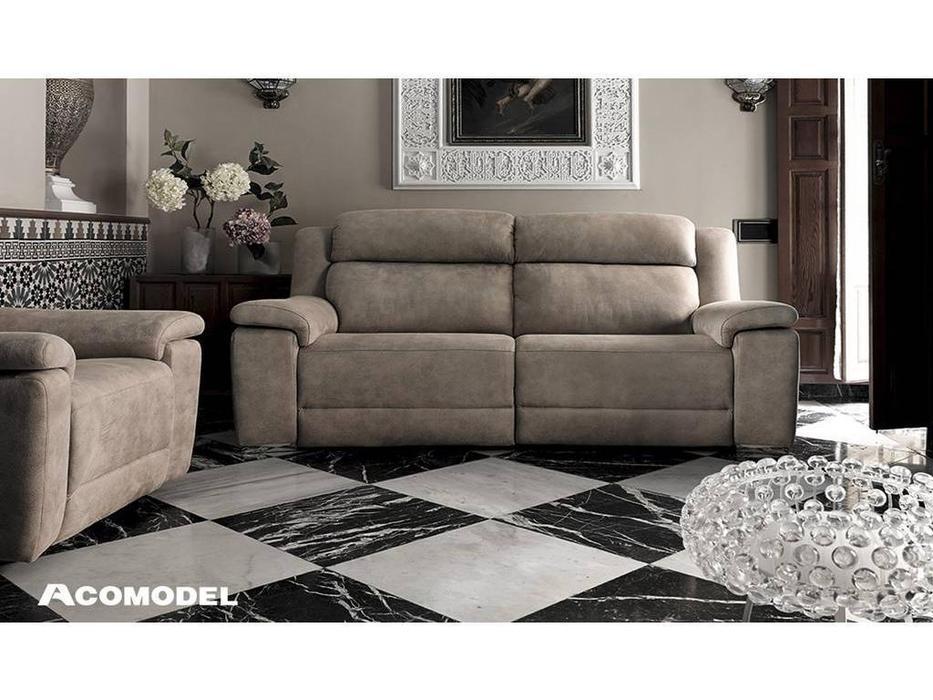 Acomodel: Blus: диван 3 местный с реклайнерами (бежевый)