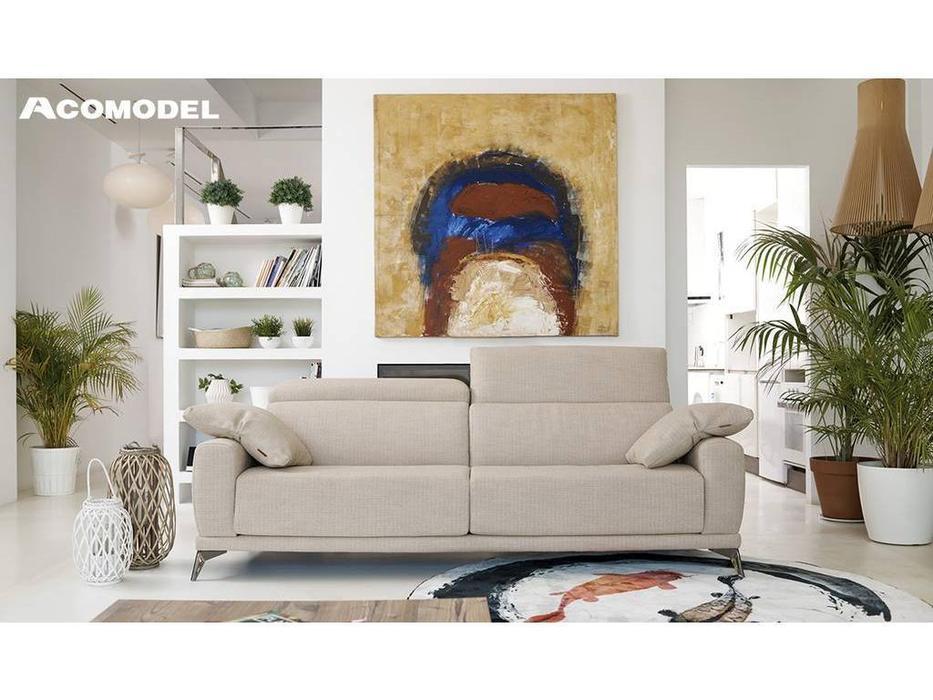 Acomodel: Cotton: диван 3 местный (бежевый)