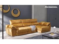 Acomodel: Ankor: диван угловой с шезлонгом ткань кат. Nova 2 (горчичный)