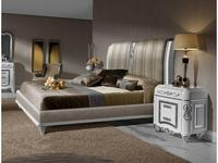 Canella: Babel: кровать 180х200  (белый, серебро, ткань)