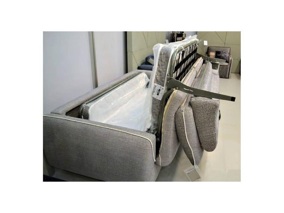Dienne: Cannes: диван 3 местный MAXI раскладной (ткань, серый)