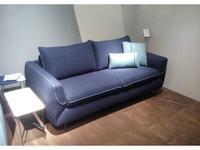 Dienne: Cannes: диван 3 местный MAXI раскладной (ткань, синий)