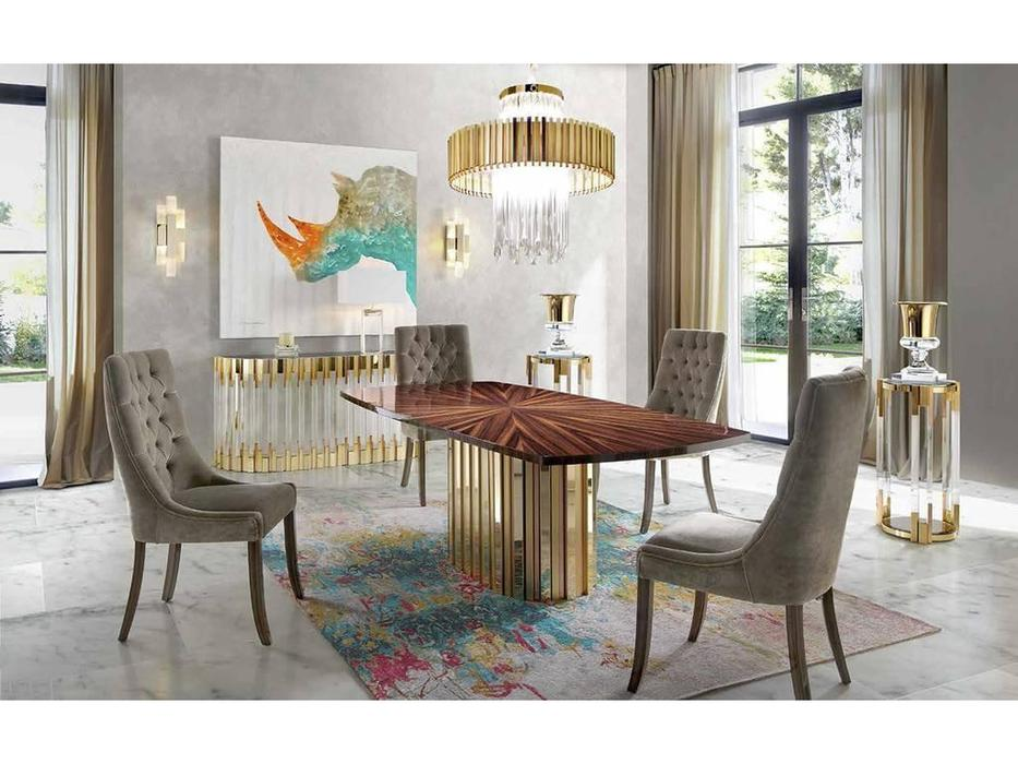 Tomas & Saez: Chic: стол обеденный  (эбеновое дерево, золото)