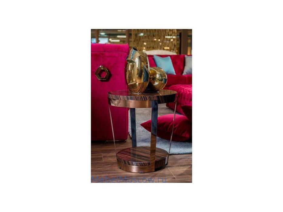 MHC: Atena-A: стол кофейный (эбеновое дерево, розовое золото)