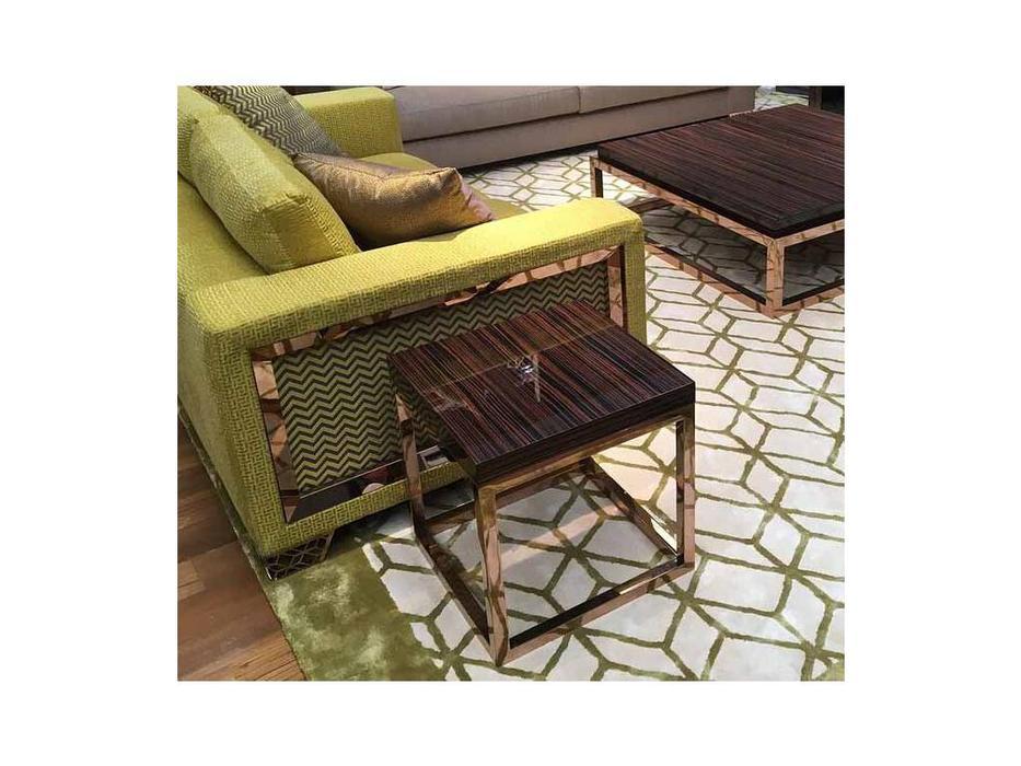 MHC: San Marco-A: стол кофейный (эбеновое золото, розовое золото)