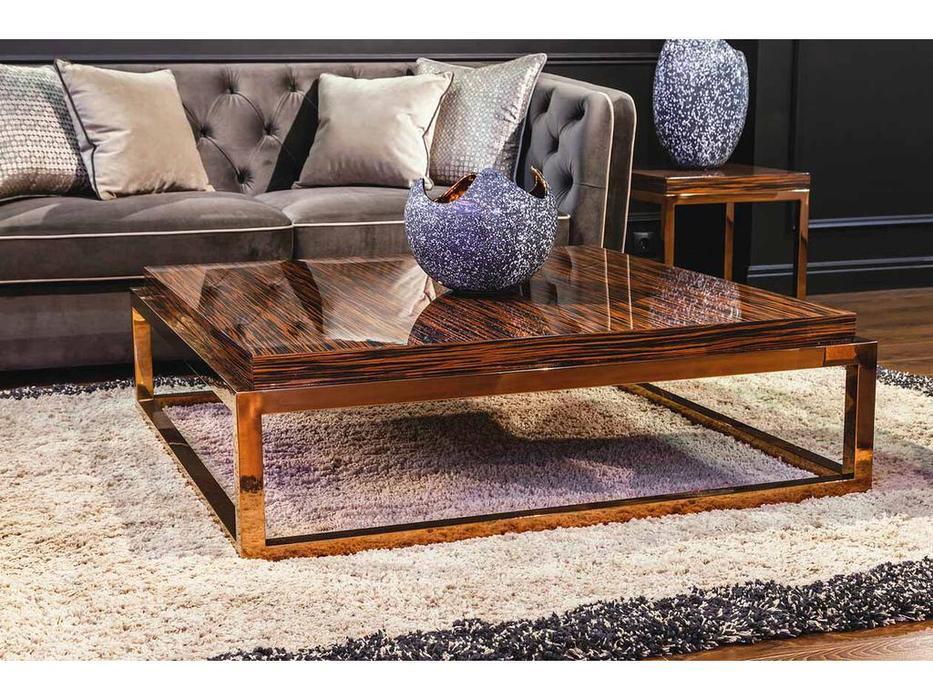 MHC: San Marco-B: стол журнальный (эбеновое золото, розовое золото)